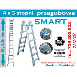 DRABINA PRZEGUBOWA SMART COMBI LG 4X5 STOPNI 5,1 M